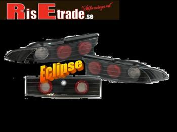 Eclipse  95-98 - svarta baklampor med mittdel. Mitsubishi