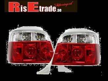 Baklysen Röd vita till BMW E36 Touring