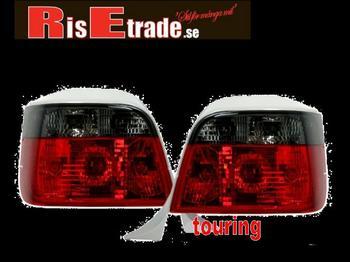 Baklysen röda & svarta till BMW E36 Touring