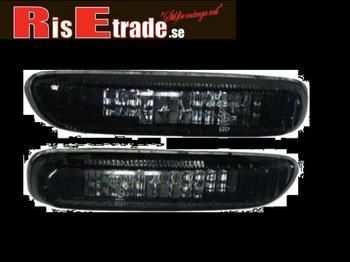 kristall svarta sidoblinkers till BMW E46