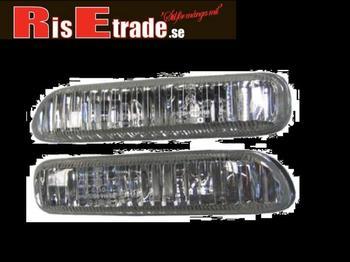 Silver kromade sidoblinkers till BMW E46