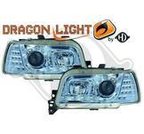 """Strålkastare DRL """"dragonlight""""DESIGNSCHEINWERF. SET CLIO"""