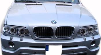 Angel Eyes Strålkastare för BMW X5 E53 / Krom