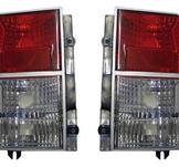 Klarglas rödvita. Baklampor till Jeep Cherokee XJ 84-96