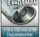 "SuperSport Tips variant DTM7 ""110x150mm DTM, oval, kantad dubbel med en kant absorbers"