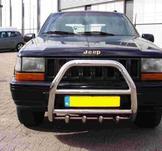 Frontbåge Jeep Grand Cherokee 1993-1998 60 mm med motorskydd