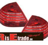 Mercedes W203 00-04 rödvita baklyktor kristall