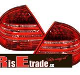 Mercedes W203 00-04 rödvita LED-baklyktor