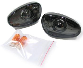 Sidoblinkers klarglas svart, passar Alfa Spider (145,146,155, GTV och Spider)