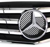 Mercedes W211 06-09 Grill svart sport