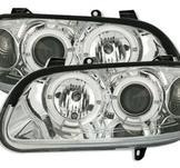 Angel Eyes set till Opel Omega B / Klarglas krom.