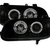 Angel Eyes set till Opel Omega B / Klarglas svart