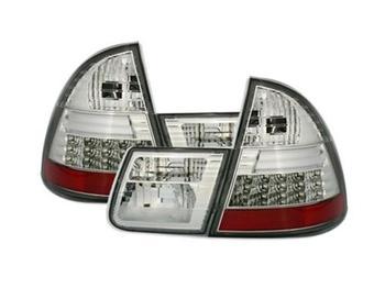 Baklampor LED i kromat klarglas till Touring E46
