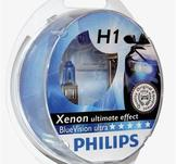 Philips Blue Vision H1 12V 55W Ultra Xenon Effect