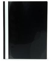 Offertmapp A4 PP enkel framsida, svart rygg+baksida, med skrivfält på rygg. Mont. mek