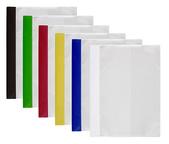 Offertmapp A4, dubbel framsida & rak ficka sid 3 i transp. präglad pp, grön rygg. Mont. mek
