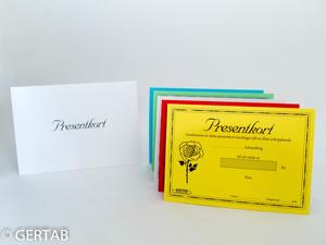 Presentkort med kuvert 50 st blandad blomma