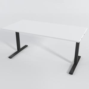 Schreibtisch Rechteck Elektrisch 160x80 cm HP Laminat Weiß