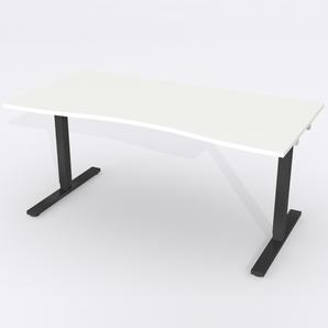 Skrivbord Ursågad Elektrisk 164x82 cm HP Laminat Vit