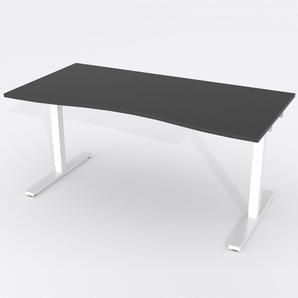 Schreibtisch Ursagad Manuelle 164x82 cm Laminat Schwarz