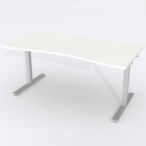 Skrivbord Ursågad Manuell 164x82 cm Laminat Vit