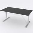 Schreibtisch Rechteck Manuelle 140x80 Laminat Schwarz