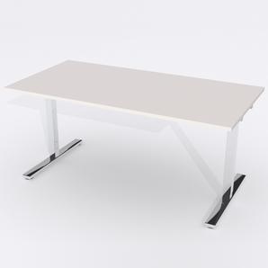 Schreibtisch Rechteck Manuelle 160x80 Laminat Hellgrau
