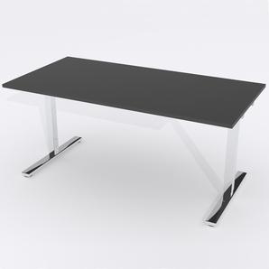 Skrivbord Rektangulär Manuell 160x80 cm HP Laminat Svart