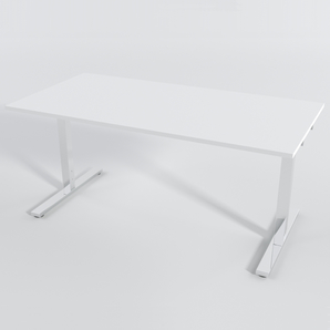 Skrivbord Rektangulär Manuell 160x80 cm HP Laminat Vit