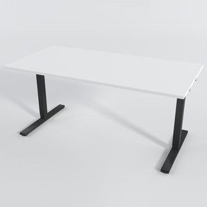 Schreibtisch Rechteck Manuelle 120x80 cm HP Laminat Weiß