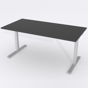 Schreibtisch Rechteck Elektrisch 140x80 HP Laminat Schwarz