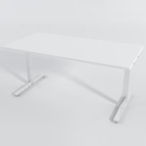 Schreibtisch Rechteck Elektrisch 160x80 Laminat Weiß