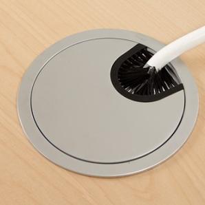 Schreibtisch Ursagad Elektrisch 180x82 Laminat Weiß