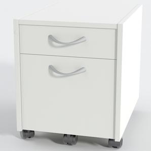 Rollcontainer 2 Laminat Weiß