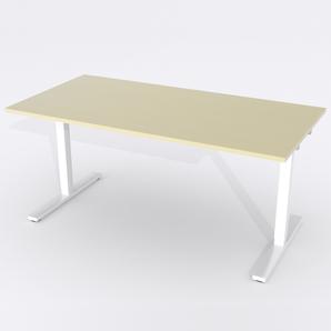 Schreibtisch Rechteck Elektrisch 180x80 Furnier Birke
