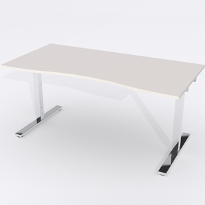 Schreibtisch Ursagad Elektrisch 180x82 Laminat Hellgrau