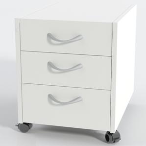 Rollcontainer 3 Laminat Weiß