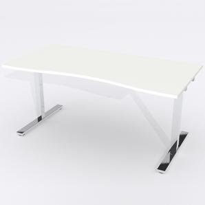 Skrivbord Ursågad Manuell 180x82 cm Laminat Vit