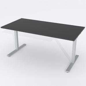 Skrivbord Rektangulär Elektrisk 180x80 cm Laminat Svart