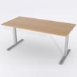 Schreibtisch Rechteck Manuelle 180x80 Furnier Eiche