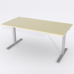 Schreibtisch Rechteck Manuelle 180x80 Furnier Birke