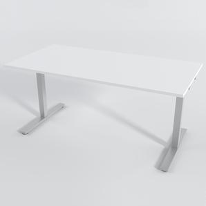 Skrivbord Rektangulär Elektrisk 180x80 cm Laminat Vit