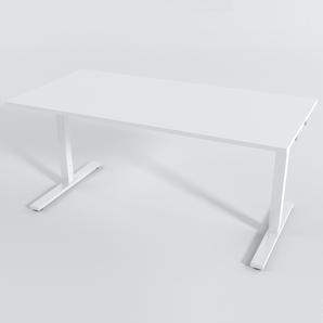 Schreibtisch Rechteck Elektrisch 180x80 Laminat Weiß