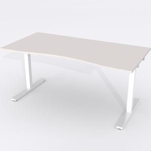 Skrivbord Ursågad Elektrisk 164x82 cm Laminat Ljusgrå