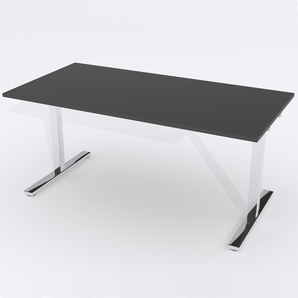 Schreibtisch Rechteck Manuelle 180x80 Laminat Schwarz
