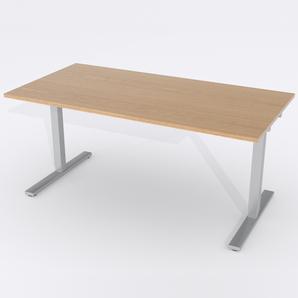 Skrivbord Rektangulär Elektrisk 140x80 cm Ekfanér