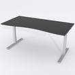 Skrivbord Ursågad Manuell 180x82 cm Laminat Svart
