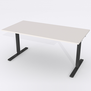Skrivbord Rektangulär Manuell 180x80 cm Laminat Ljusgrå