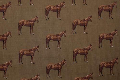Metervara, tyger & textilier - Brun häst