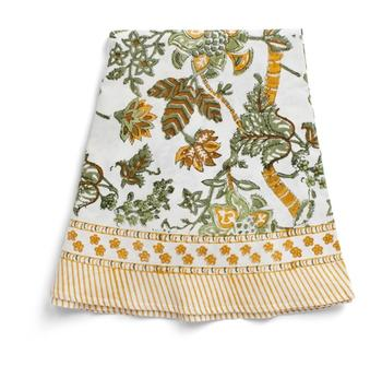 NYHET Chamois-rund linneduk-floral, 180cm cm